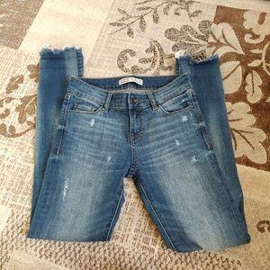 Zara Midrise Distressed Skinny Jeans